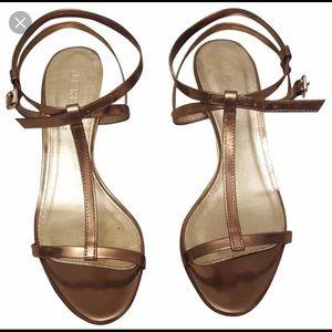 J.Crew metallic sandals